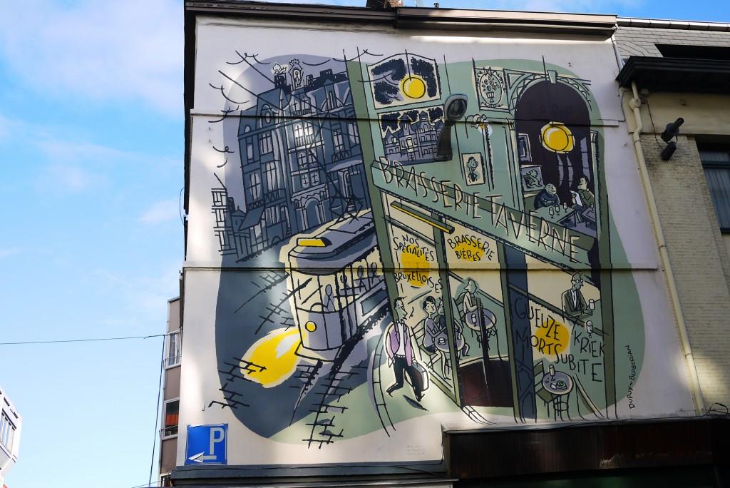 Brussels Street Art Mort Subite