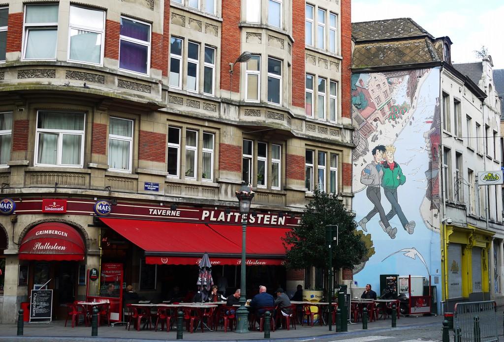 Brussels Street Art Rue de Lombard